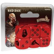 Zombicide Black Plague : Set de 6 Dés Rouges