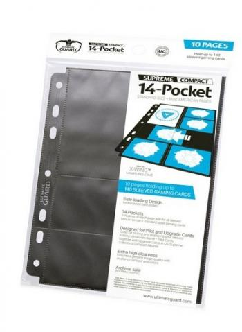 14-POCKET COMPACT PAGES TAILLE STANDARD ET
