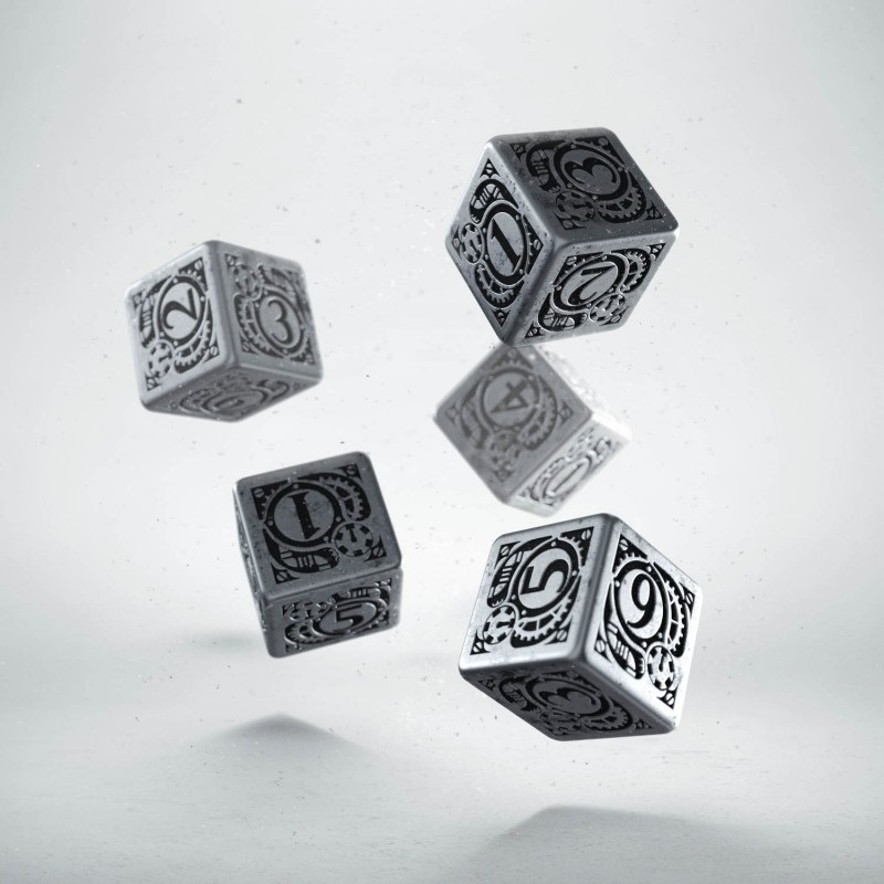 METAL STEAMPUNK DICE