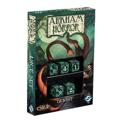 Arkham Horror Dice Set - Black and Green