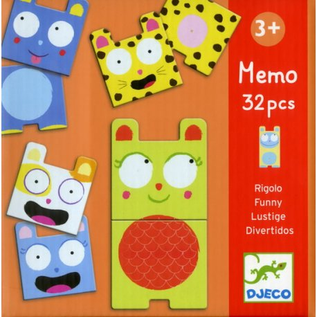 MEMO ANIMAUX RIGOLOS - 32 PIECES