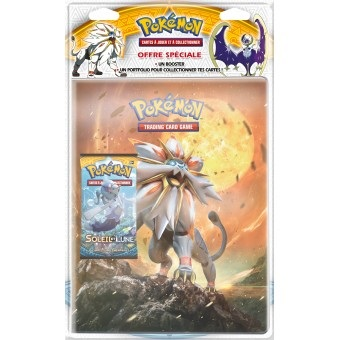 PACK CAHIER RANGE-CARTES + 1 BOOSTER POKEMO